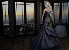 Sunset Dinner (Jamee Sandalwood - Miss V SWEDEN 2015) Tags: flowers sunset art girl fashion female night dinner photography evening photo blog photographer 500v20f purple formal virtual pixel blonde blogged dining date gown pixels couture artphotography labox labos 1000v40f fashionartphotography lavian bloggeer royaumedeversailles
