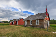 Stormy Skies Over the Harness Repair Shop and Post Office (Samantha Decker) Tags: canada ab alberta rockymountains canadianrockies uwa baruranch canonef1635mmf28liiusm samanthadecker
