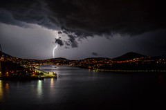 Lightning (silvishehi) Tags: lightning light night dubrovnik hrvatska croazia croatia travelling fulmini luce notte visiting wanderlust sea city bridge