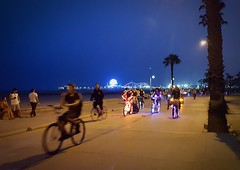 20160626_224315 (Moyer566) Tags: samsung galaxy6 night nighttime electric light parade bicycles santamonica california pier ferriswheel