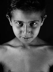 The look. (Imene.Driche) Tags: kid enfant nipples nude regard eyes yeux look algeria studio hair black white dark sombre like photography photographie lips canon pro new nouveau male beauty oran arab best