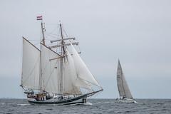 Passing Maneuver (Markus Trienke) Tags: ocean sea water canon de deutschland eos boat waves sailing ship windy balticsea schleswigholstein brodersby 70d