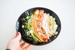 JTJ_4833-2 (junestarrr) Tags: sushi sushibowl iittala iittalafinland dish salmon avocado kale wakame rice wasabi ginger dinner japanese eating yummy food