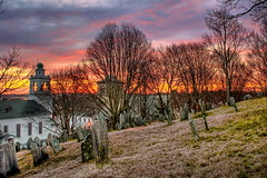 Old Burial Hill (DeadDogsEye) Tags: sunset sky sunrise massachusetts plymouth oldburialhill deaddogseyehdr plymouth400 plymouthmassachusetts400