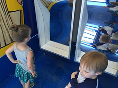 """Paul and Inde Look at Funhouse Mirrors • <a style=""""font-size:0.8em;"""" href=""""http://www.flickr.com/photos/109120354@N07/27821822166/"""" target=""""_blank"""">View on Flickr</a>"""