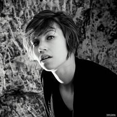 La Fline-09 (Yann Cariou) Tags: clothilde fline noirblanc portrait cave roche