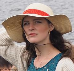 Henley Royal Regatta (2016) - 11 (Row 17) Tags: uk greatbritain portrait england people woman hat women riverside unitedkingdom britain candid hats event gb regatta henleyonthames thamesvalley