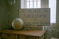(333Bracket) Tags: cosinact1050mmf2 333bracket london film 35mm analouge expiredfilm antique display globe whitstable window vintage typography lettering sign