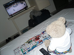 BUT!!! That's ice hockey! (pefkosmad) Tags: bear vacation england holiday ted june toy hotel fan football stuffed soft teddy euro soccer fluffy games plush matches 2016 finas holibobs tedricstudmuffin