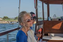 DSC_5981 (Pasquesius) Tags: sea ferry lady island boat barca mare lagoon tourist blonde sicily laguna saline sicilia saltponds isola turista traghetto marsala mozia bionda signora mothia stagnone motya riservanaturaledellostagnone