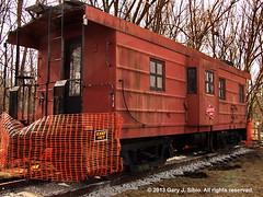 Milwaukee Road Caboose (2013-03-30 10-49-07a) (garysibio) Tags: us illinois unitedstates rail trains caboose static railfan itasca railroadcars rollingstock milwaukeeroad acdsee