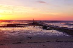 Sunset - Passage du Gois, Vendée (Olivier Decré) Tags: sunset france landscape frankreich paisaje atlantic paysage francia coucherdesoleil atlantico gois vendée atlantique passagedugois legois