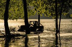 wild things (Alexandra Tsiam) Tags: trees summer lake man reflection tree reflections spring driving jeep lakezirou