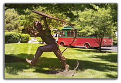 Let's Go Fly A Kite (MissyPenny) Tags: sculpture usa kite bronze outdoors buckscounty gardendecor commonwealthpa chalfontpennsylvania pdlaich missypenny