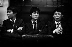 Men in Black (DILLEmma Photography) Tags: street blackandwhite bw white black japan shirt train wonderful subway asian photography tokyo evening photo blackwhite amazing nice nikon perfect asia suits image great streetphotography tie professional sleepy nighttime photograph tired stunning late bedtime lovely elegant foreign capture effect d7100