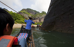 View from the Nine-bend River Bamboo Rafting (The 7th bend) (PhotoDG) Tags: china river landscape wideangle bamboo rafting fujian  wuyishan nanping fujianchina river wuyishanscenicarea ninebend rafting