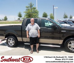Southwest KIA of Rockwall would like to wish a Happy Anniversary to Larry Orrill on your 2006 Ford F-150 (Southwest Kia Rockwall) Tags: new southwest car sedan truck wagon happy dallas texas tx used vehicles mesquite bday dfw kia van suv coupe rockwall dealership hatchback dealer customers minvan 4dr metroplex shouts 2dr preowned