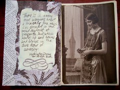 Adversity (artsychicksw) Tags: art altered mixed women media journal adversity journaling