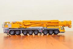 Little Yellow Crane IV (KNL-17) Tags: nikon crane 150 speedlight wsi scalemodel liebherr d600 mobilecrane sb900 telescopicboom ltm150081 nikkorafs2470mmf28g