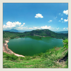 Inside lake Taal