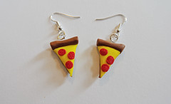 Pepperoni Pizza Earrings (JosieMM1013) Tags: cute handmade crafts jewellery pizza polymerclay clay slice earrings etsy quirky pepperoni pepperonipizza polymer pizzaslice etsyshop sliceofpizza