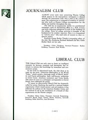 Journalism Club and Liberal Club (Hunter College Archives) Tags: students club 1936 yearbook clubs hunter journalism activities huntercollege studentorganizations organizations studentactivities liberalclub studentclubs journalismclub wistarion studentlifestyles thewistarion
