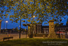 The Mother Town (Raven Photography by Jenna Goodwin) Tags: blue red house ceramica tree heritage history yellow night bench lights town duck big swan memorial war framed arnold lion mother bank trent hour canopy staffordshire stoke bennett burslem boslem nocotography