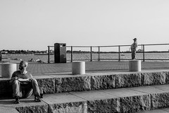boiler man (hnrk hlndr) Tags: street summer people blackandwhite bw man men 50mm blackwhite nikon harbour eating candid streetphotography sigma belly streetphoto malm bigbelly sigma50mm d600 vstrahamnen westharbour nikond600