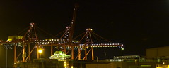 Fremantle by Night (Padmacara) Tags: night port lights ship australia cranes fremantle g11 ontainers