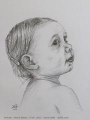 Keilah Baby Portrait - Pencil Sketch A5 - 2013 (david_joffe) Tags: portrait baby david art pencil sketch joffe