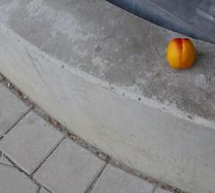 Peach Parking (brandsvig) Tags: fruit concrete skne sweden peach august sverige frukt malm betong lx7 2013 persika sdrafrstadsgatan lumixlx7