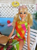 (29) PJ (Foxy Belle) Tags: party food scale pool swimming vintage garden miniature backyard mod doll lawn barbie suit deck pj tropical 16 bathing 1980s diorama repaint swum playscale outsdide