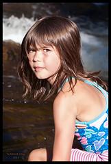 MARIE-SOLEIL (XKINE) Tags: family famille summer sun water girl river soleil nikon eau rivire littlegirl cousin t fille cousine fillette d90 nikond90 karinecou xkine