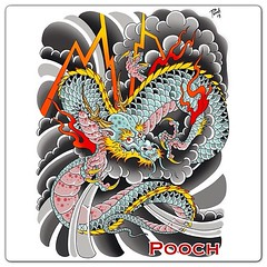 Sketched on paper then finished in photoshop #dragon #japanese #dragontattoo