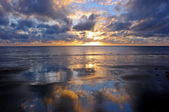 First Light at Cape Tribulation 2 (John Ibbotson (catching up!)) Tags: ocean sea clouds sunrise reflections dawn day cloudy australia queensland capetribulation coralsea flickrbronzetrophygroup