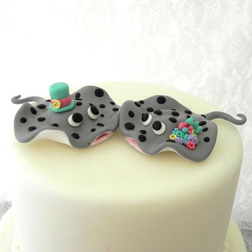 Custom Wedding Cake Topper Stingray Couple