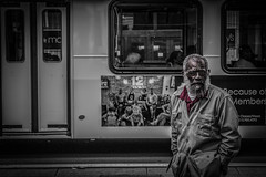 Bearded Bus Bossman (Philip Masturzo (Done on this site)) Tags: people bw bus philadelphia beard outside photography blackwhite phil streetphotography oldman gritty photoaday philly oldie canont3i totallyeverydayawesome