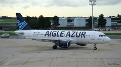 Aigle Azur A320-200 F-HBIS (birrlad) Tags: paris france reflection portugal glass airplane airport glare terrace taxi aircraft aviation airplanes transport terminal porto airline airbus airways airlines departure viewing orly airliner azur departing a320 taxiway aigle a320200 a320214