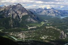 Banff view from Sulphur Mountain (_rickard) Tags: canada banff sulphurmountain sulphurmountaincosmicraystation