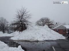 beautiful snow piles