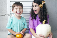 """Say """"Pumpkin""""! (mouseVOLATILE) Tags: family boy silly fall halloween boys girl smile female youth canon children pumpkin fun happy toddler child florida sister brother fallcolors candid pumpkins young naturallight siblings brotherandsister simple familyportrait younggirl centralflorida candidphotography youngboy childphotography smilinggirl femaleportrait childportrait happychild girlportrait whitepumpkin orangepumpkin familyphotography canonphotography youngmodel femalephotography naturallightphotography childportraits happytoddler childrenphotography toddlerportrait smilingtoddler candidchildren boyportrait boysfamily halloweenportrait fallportrait childhalloween canonportrait toddlermodel fallphotography canon7d toddlerphotography pumpkinphotography siblingphotography halloweenphotography canon7dportrait canon7dphotography childrenhalloween familyfallportrait mousevolatile childrenhalloweenphotography childrenhalloweenportrait childrenfallportrait childrenfallphotography childfallportrait"""