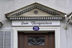 Zum Morgenstern (Florian Hardwig) Tags: star portal lettering stgallen blackletter morningstar fascia gebrocheneschrift