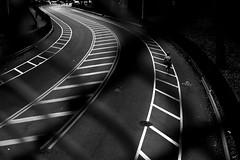 Follow the White Brick Road (jrseikaly) Tags: road street new york city b urban bw white black bicycle fence jack w biker bnw seikaly jrseikaly
