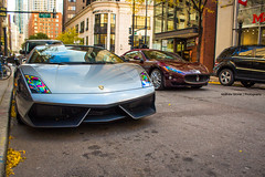 Maserati Monday (Matthew Groner) Tags: street chicago gray rush gt lamborghini maserati snakecharmer gallardo superleggera 1of1 grancabrio dailydrivenexotics