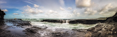 The Gut (Nick Twyford) Tags: newzealand panorama seascape clouds nikon waves auckland nz northisland westcoast muriwai rrs earlymorninglight rockplatform colourimage leefilters 1024mm d7000 lee09nd lee06gndsoft phottixgeoone mpr192nodalslide tvc33bh55