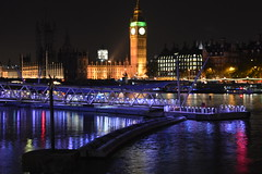 Big Ben by night (Paul G Uk) Tags: thames night south housesofparliament bank bigben