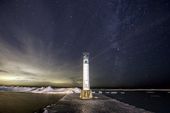 Starry Starry Night (Ben Roffelsen Photography) Tags: winter cloud snow ice way stars bend grand shore milky chill grandbend flickraward