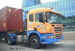 Scania P380 , Huationg Inland Transport Service Pte Ltd (Waverly Fan) Tags: port truck gateway psa inter haulage huationg
