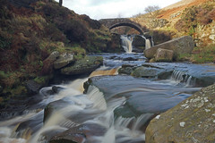 Three Shires Head 2 (Snap Tin) Tags: winter wild blur nature water landscape waterfall sony january alpha slowshutterspeed