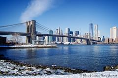 Jane's Carousel at Brooklyn Bridge Park - Lower Manhattan, New York City (Pillars of Creation Photography) Tags: bridge winter sky ice water skyline clouds skyscraper eastriver top20bridges